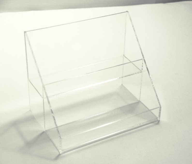 Custom acrylic plastic fabrication store displays jewelry trays brochure  holders showcases racks shelves plexiglas lucite exhibits covers