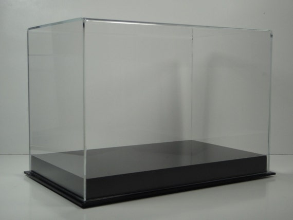 Shoe Display Case With Black Acrylic, Shoe Glass Case