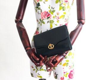 89501ba4c5ac Vintage Celine black leather clutch bag