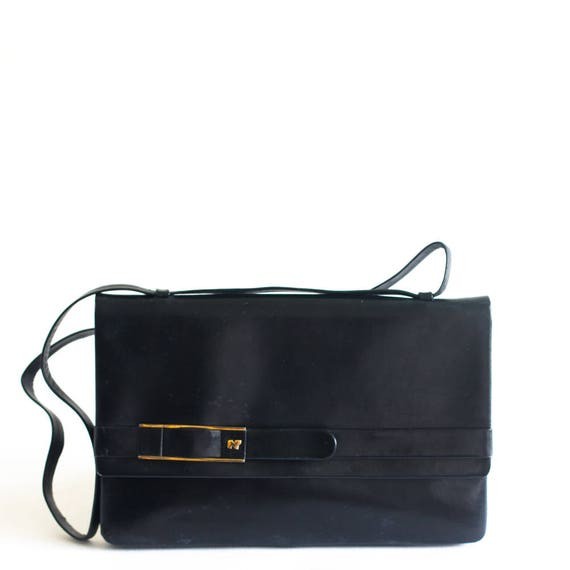 Vintage Nina Ricci black leather bag
