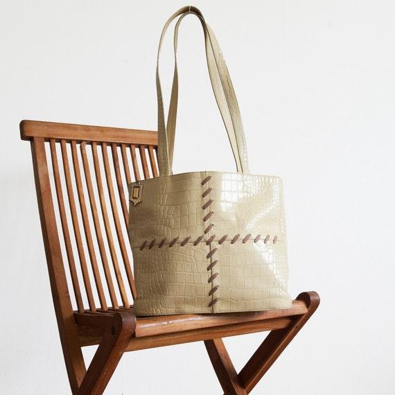 Vintage YSL bag / off-white leather bag