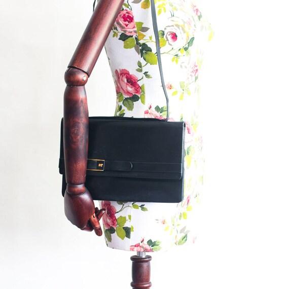 Vintage Nina Ricci black leather bag - image 7