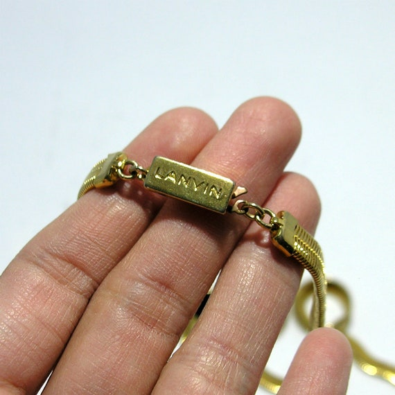 Elegant vintage Lanvin jewelry necklace and earri… - image 4