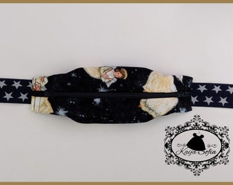 Angels festive Libre reader belt with navy and white star elastic.  Size 1 *Will NOT fit insulin pumps!*