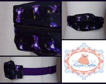 Purple wizards insulin pump belt with purple elastic.  Size 2.