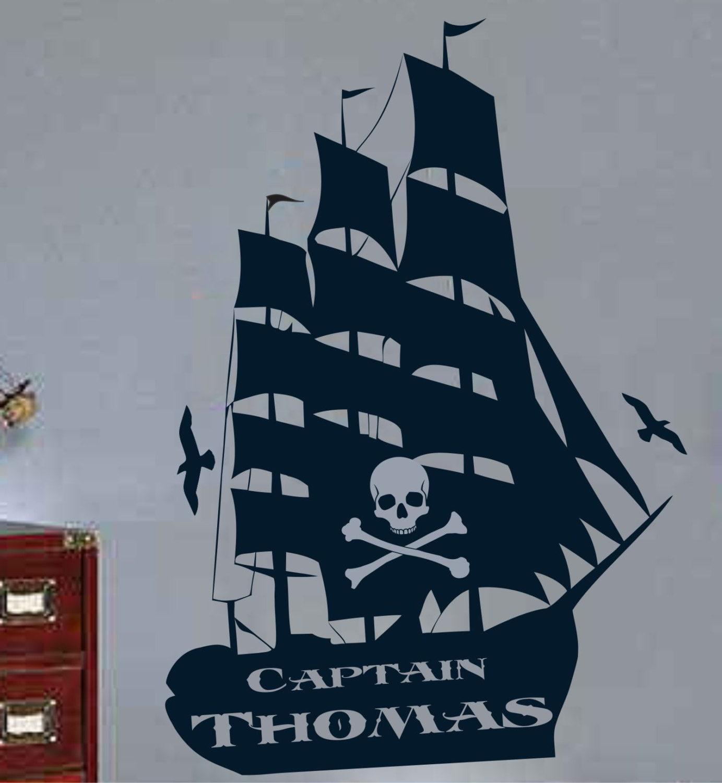 Pirate Ship Wall Decal Vinyl Sticker Decals Art Decor Design Etsy