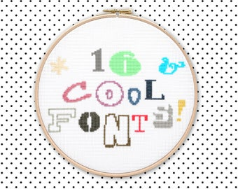 Download 16 cross stitch fonts pattern pack for subversive cross ...