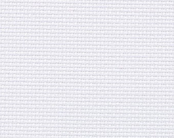 ZWEIGART AIDA WHITE Cross stitch fabric 14ct, white 101 hand embroidery fabric, counted embroidery cloth, 14 count needlework cotton