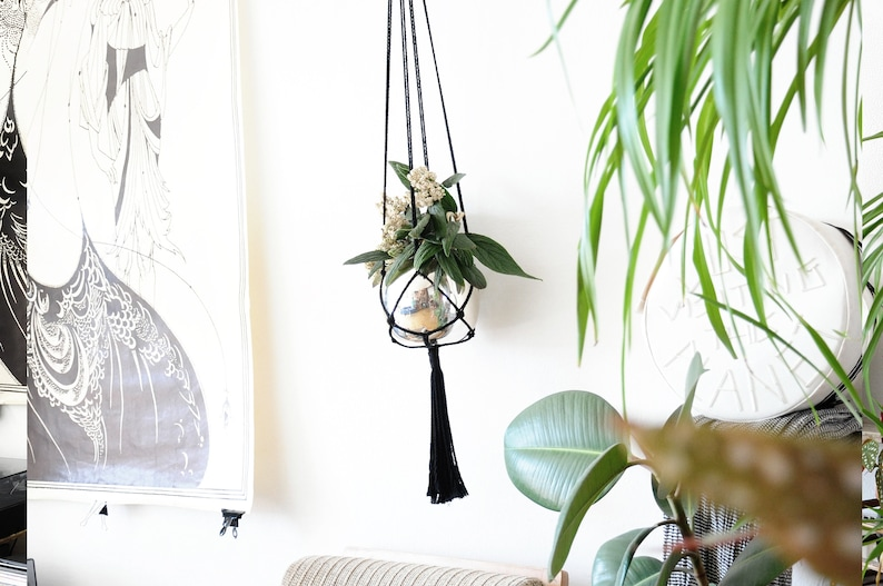 Modern Boho Home Decor 4 Pack Macrame Plant Hangers In Different Designs Handmade Indoor Wall Hanging Planter Plant Holder