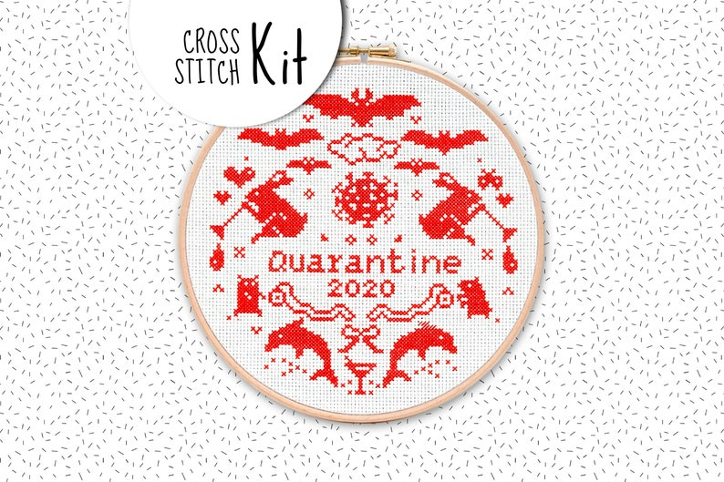 Quarantine Cross Stitch | Stay at Home Mum
