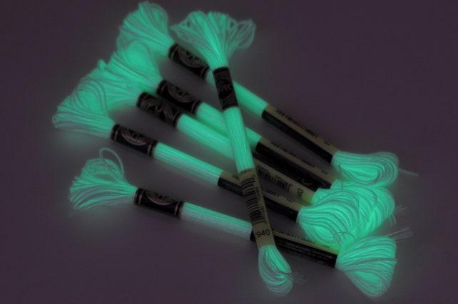 Fluorescent Embroidery Floss Dmc E940 Glow In The Dark Neon Etsy
