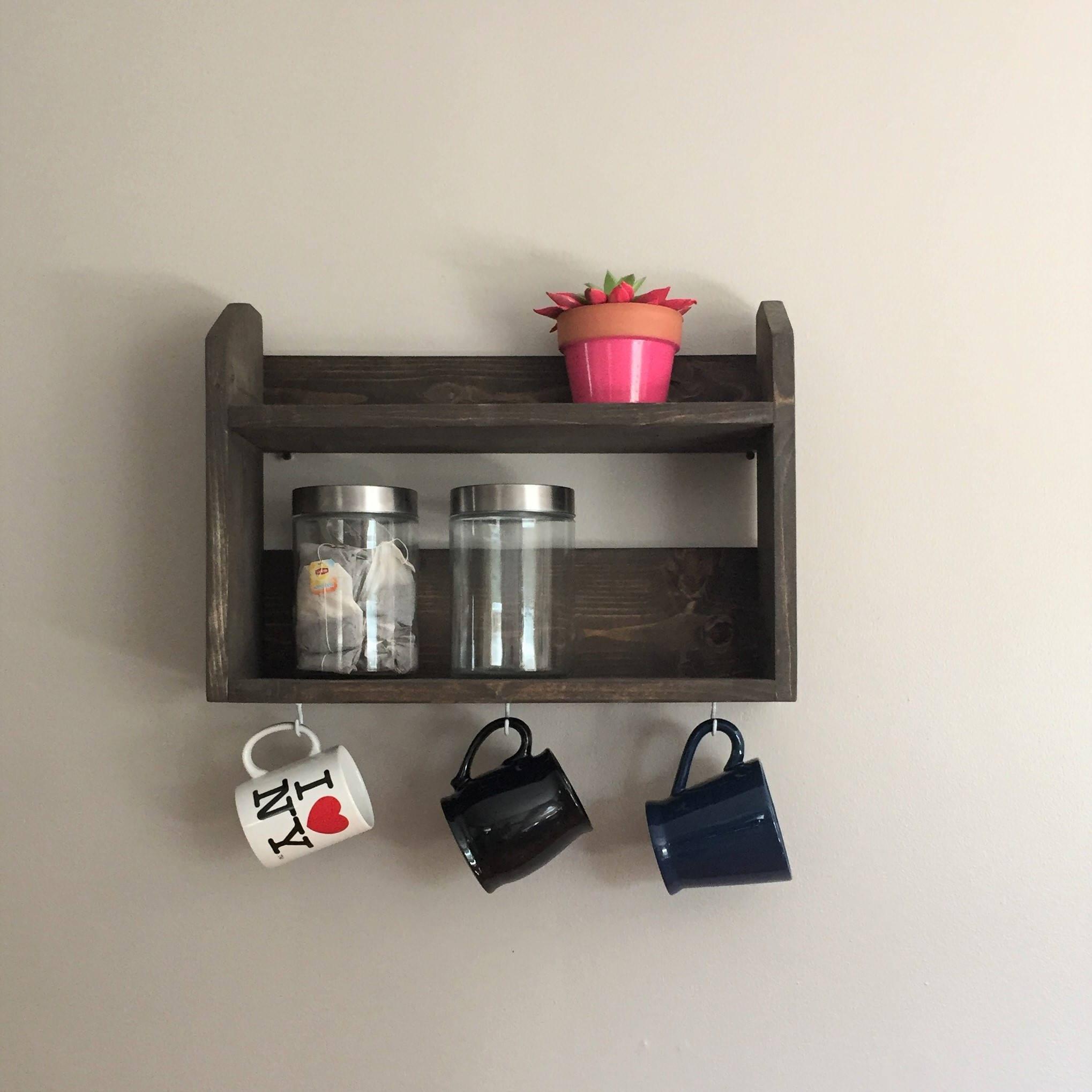 Café-Bar Kaffee-Regal Regal Kaffee-Liebhaber Tee-Regal | Etsy