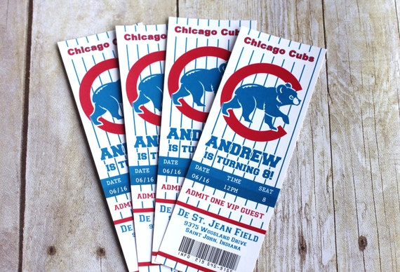baseball or football ticket printable invitations hockey any etsy