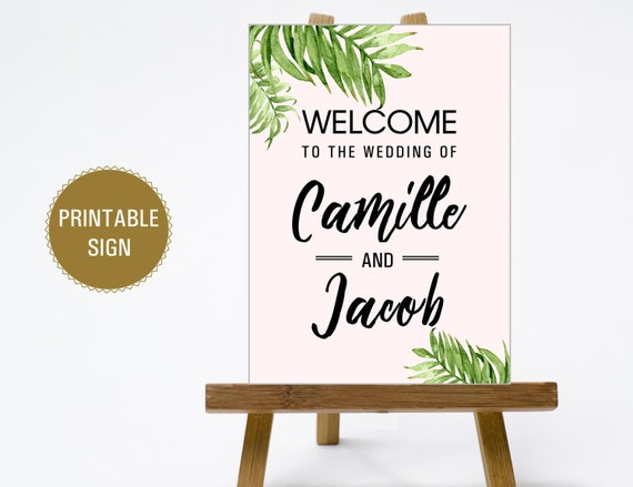 printable 16x20 18x24 24x36 wedding welcome sign print etsy