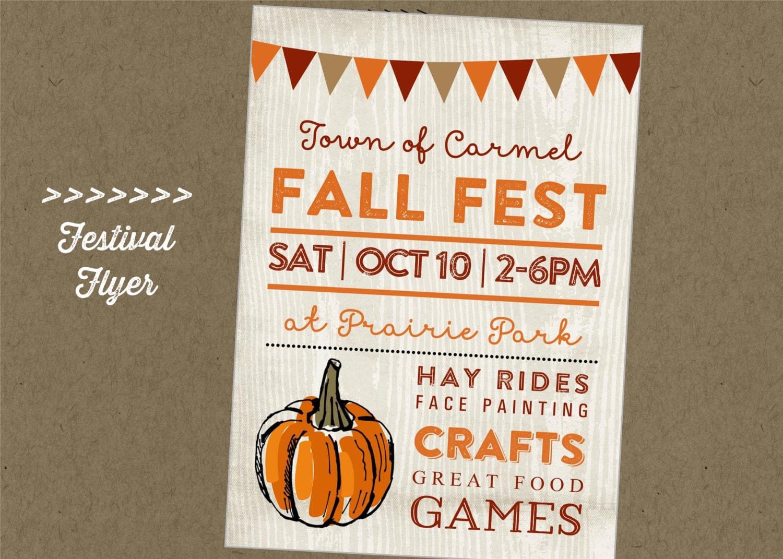Fall Fest Printable Flyer Festival Craft Fair Vendor Etsy
