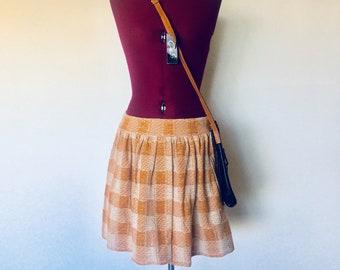 Pleated Mini Skirt Tan Ceam Free People Size M