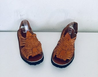 94433ef5b0d9 70s Huarache Sandals Leather Tire Soles 8 M 38 39 hand made in Mexico  unused New