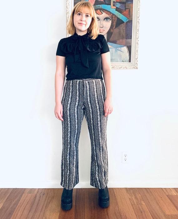 60s Tweed Pants Boot Leg High Rise Pants Size 29 8