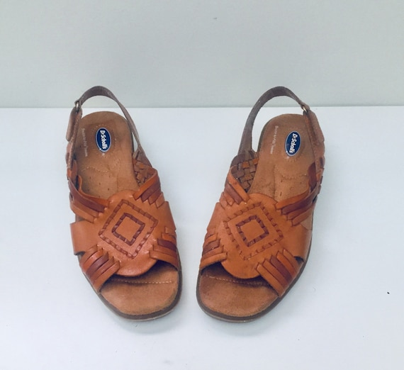 599606979373 90s Huarache Sandals Flats Leather Shoes Size 7.5 37 38 by Dr
