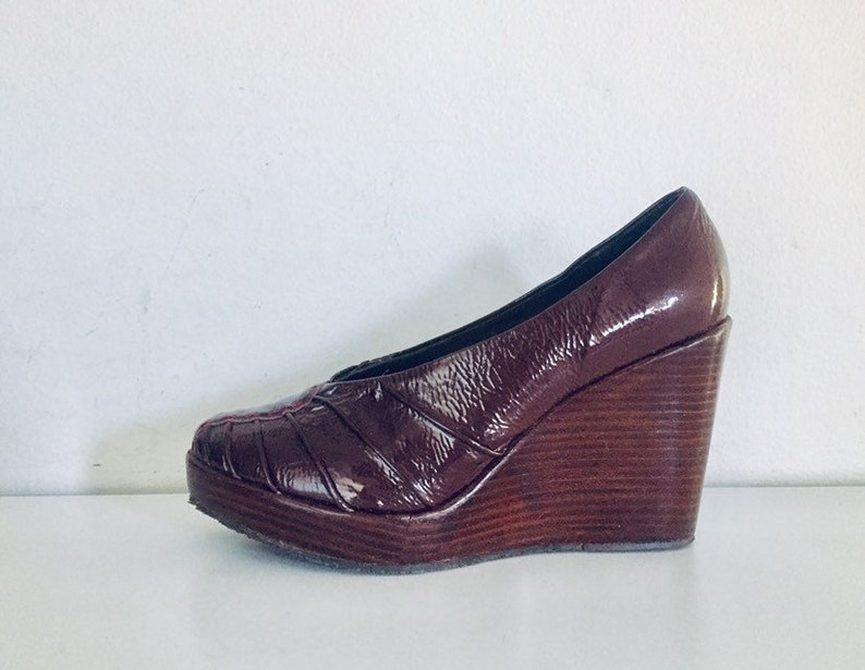 d2f9bf3423d 90s Platforms Mary Janes Chunky Heel Pumps 8 M 38 39