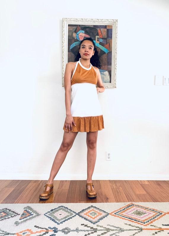 70s Mini Dress Babydoll Dress size XS