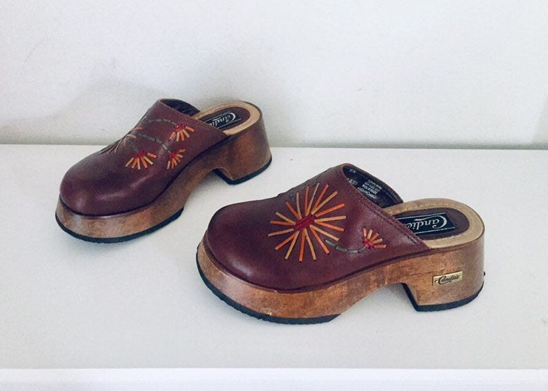 90s Platform Clogs Wooden Heels Made In Brazil By Candies 7 37