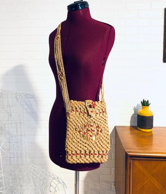 70s Macrame Purse Shoulder Bag