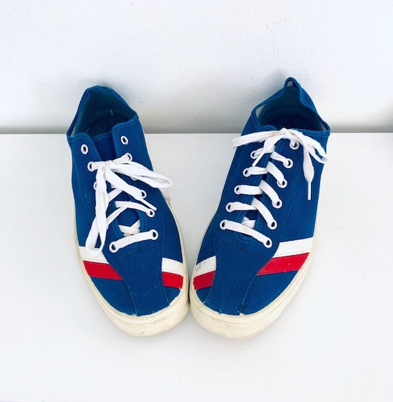 70s Sneakers Blue Tennis Shoes JC Penney Size Mens
