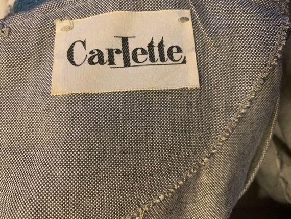 60s Mini Dress Gray Chambray by Carlette size S - image 9