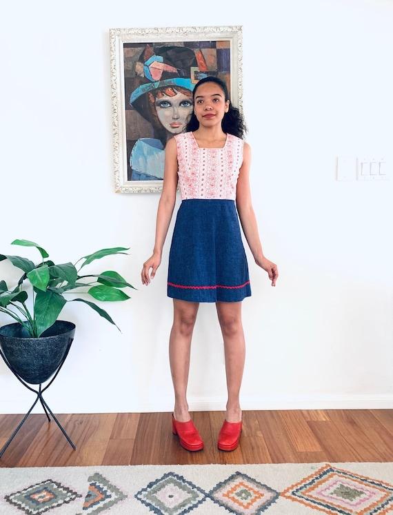 60s Mini Dress Denim size S