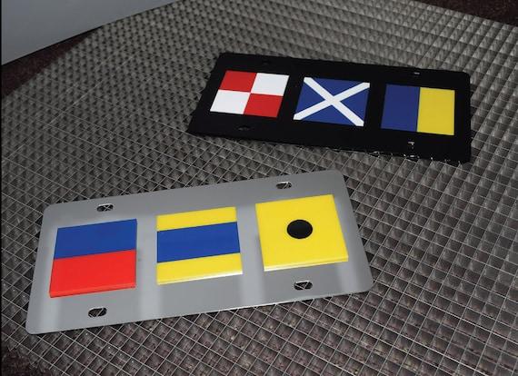 Bangladesh White Plastic License Plate Frame World Flags