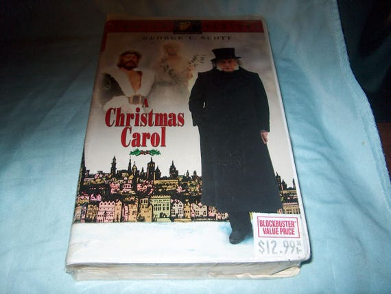 George C Scott A Christmas Carol.Vhs Movie Factory Sealed A Christmas Carol George C Scott
