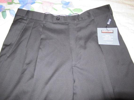 Vintage Kirkland Mens Black Dress Pants Made In Italy Etsy