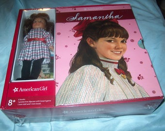 Sealed American Girl Doll, Samantha's 6-Book Set + Mini Doll, & Board Game, Slipcase