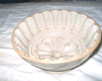 Vintage Large Stoneware Food Mold, Kitchen