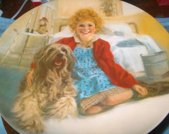 Vintage Plate, Knowles, Annie & Sandy, First Issue, Annie Collector's Plate Series 1983