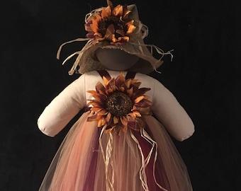 Fall Scarecrow Tutu Costume, Burgundy