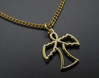 Stainless Steel Gold Angel Charm Pendant Necklace Woman/'s Necklace Hypo Allergenic Jewelry Men/'s Necklace Men/'s Charm Pendant Jewelry