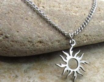 sun necklace for men