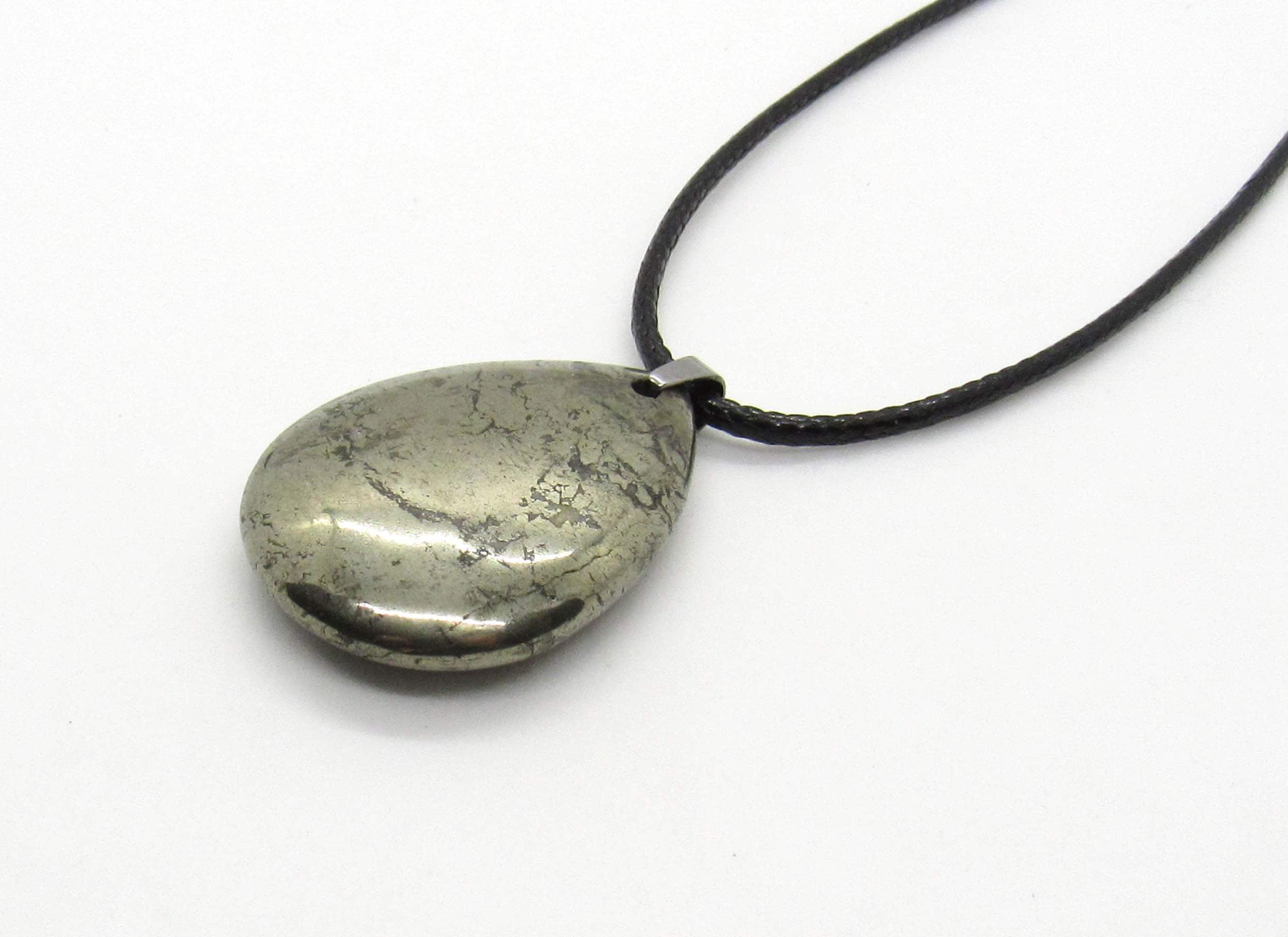 Men/'s Jewelry Pyrite Crystal Healing Pendant Necklace Men/'s Necklace Women/'s Necklace Stainless Steel Pyrite Drop Pendant Necklace