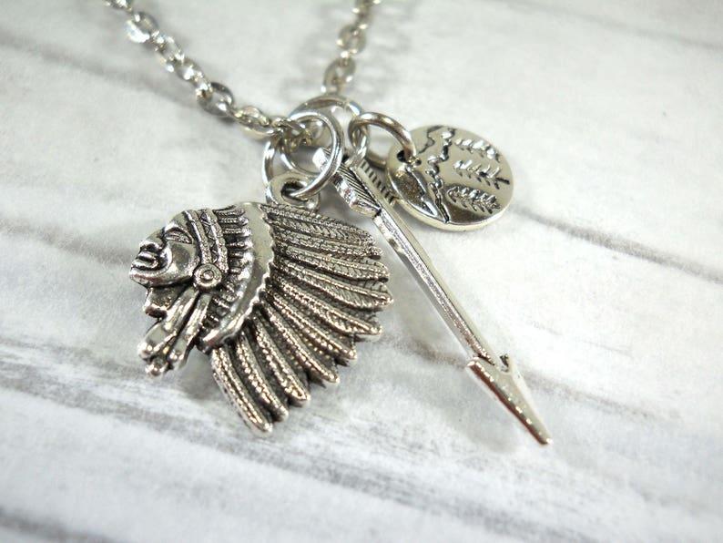 Vintage Men Leather Long Chain Arrow Pendant Punk Necklaces Body Jewelry Gift
