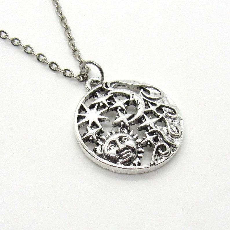 Woman/'s Necklace Sun Moon Stars Pendant Necklace Celestial Necklace Necklace for Women Men/'s Necklace