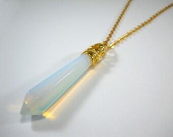 Opal Gemstone Necklace, Opal Gemstone Pendant, Chakra Pendant, Healing Gemstone Necklace, Gifts for Men, Men's Necklace, Women's Necklace