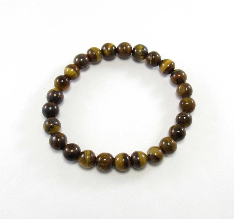 Gift for Men 8mm Beads Men/'s Jewelry Men/'s Bracelet Tiger/'s Eye Chakra Bracelet Elastic Cord Women/'s Bracelet