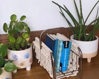 Macrame Magazine Rack/Book Holder