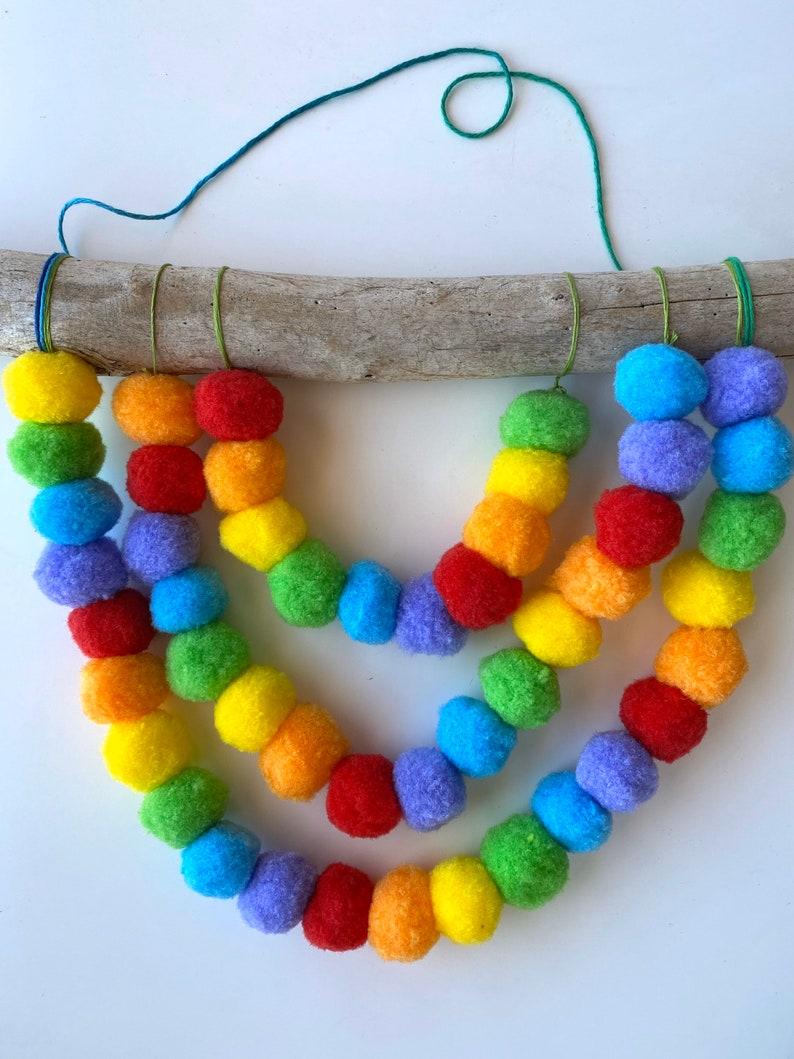 Fluffy Rainbow Wall Hanging