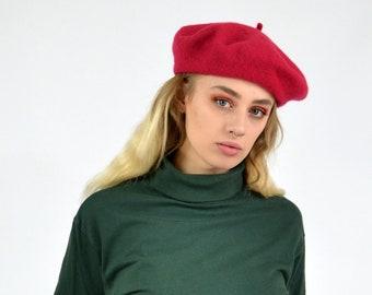 06731b085a3da Vintage 90s Pink Beret Hat