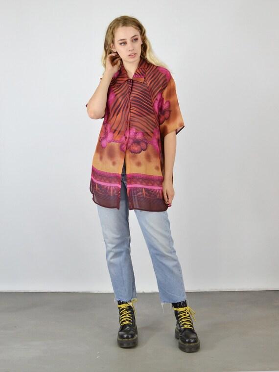 Vintage 80/'s Oversized SequinTrophy Shirt