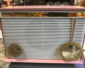 1950-60s Pink Working Electric AM Radio With New Tubes Motorola Model A16P