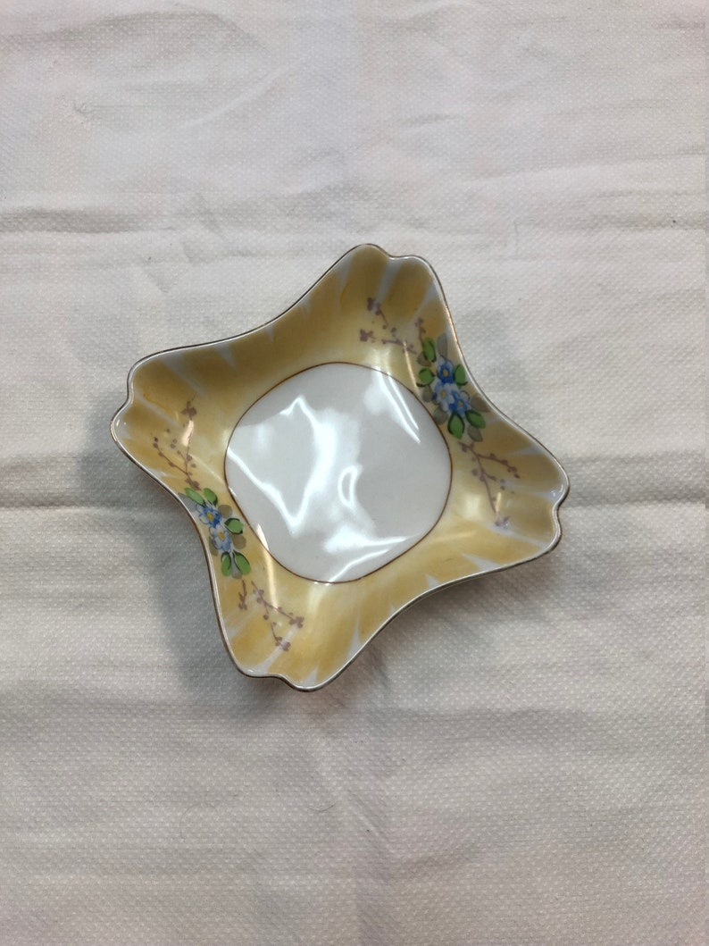 Meito China Japan C.1920/'s Hand Painted Trinket Dish Or Candy Dish